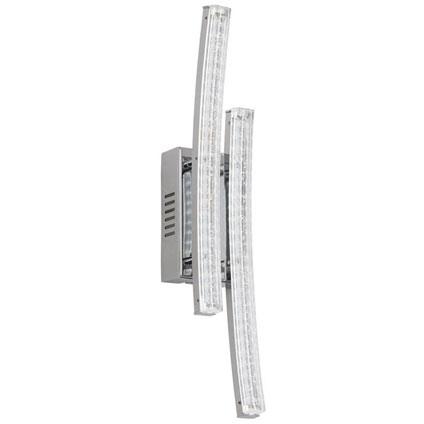 Eglo wandlamp 'Pertini' chroom 2 x 3 W