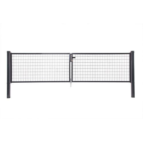 Giardino dubbele poort H 150 x L 2x150cm antraciet