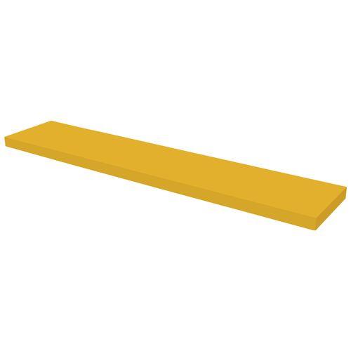 Étagère murale Duraline XL4 laque jaune 38mm 118x23,5cm