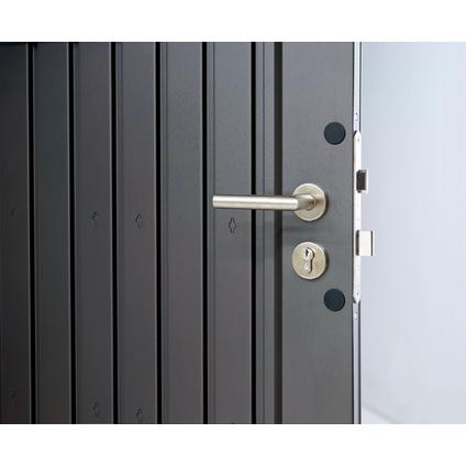 Biohort tuinhuis HighLine H1 enkele deur kwarts grijs metallic 155x275cm