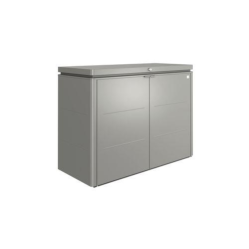Armoire de jardin Biohort 'HighBoard' gris quartz métallique 160 x 118 cm