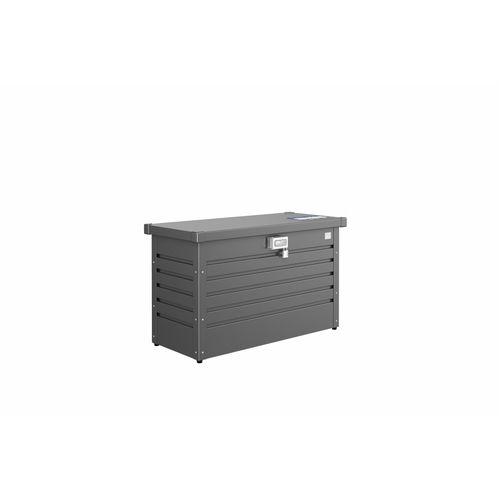 Biohort opbergbox tuin 'Pakket-Box 100' donkergrijs metallic 101 x 46 cm