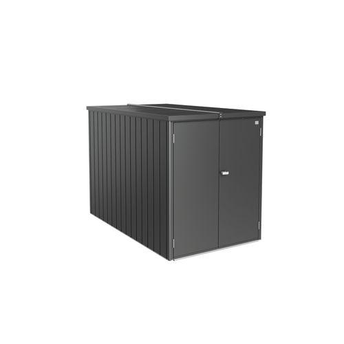 Biohort MiniGarage donkergrijs metallic 122x203cm
