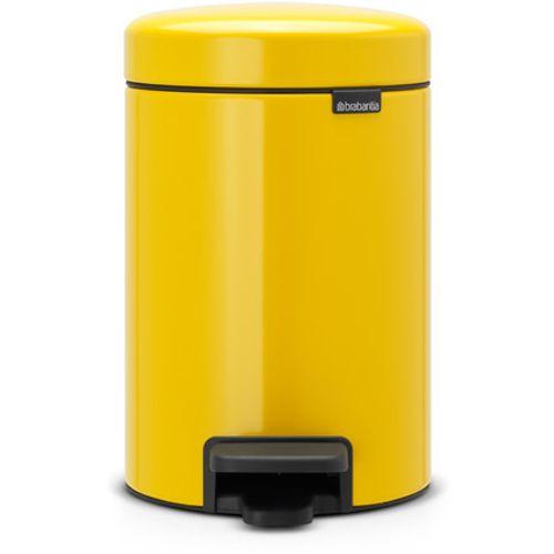 Poubelle à pédale Brabantia 'newIcon' daisy yellow 3 L