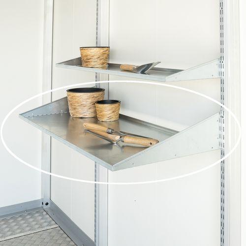 Biohort schappen CasaNova zilver 99x43,5cm 2st