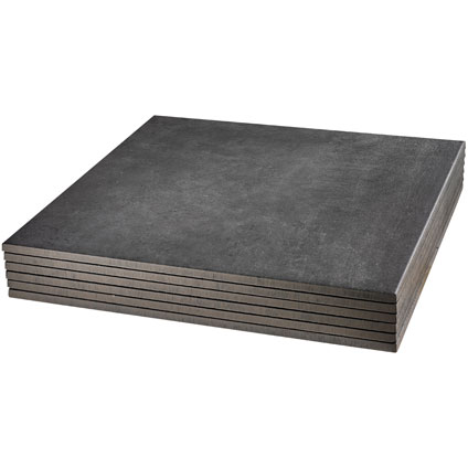 Tegel 'Cera beton' zwart 61,5 x 61,5 cm - 2 stuks