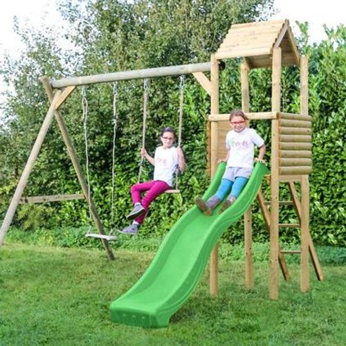 Portique sans toboggan BnB Wood 'Lola' bois 325 x 325 cm