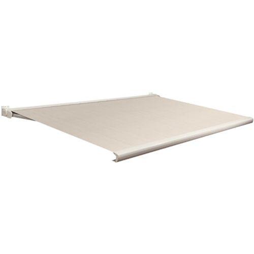 Domasol zonnescherm elektrisch met afstandsbediening Factor 20-C bruin/wit smalle strepen350x300cm