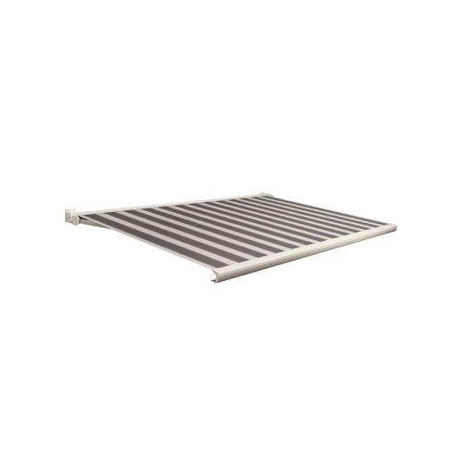 Domasol zonnescherm elektrisch met afstandsbediening Factor 20-C zwart/wit smalle strepen 350x300cm