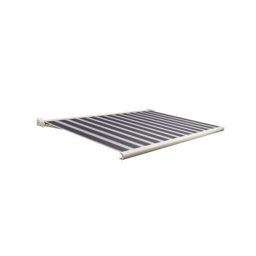 Domasol zonnescherm elektrisch met afstandsbediening Factor 20-C blauw/wit smalle strepen 350x300cm