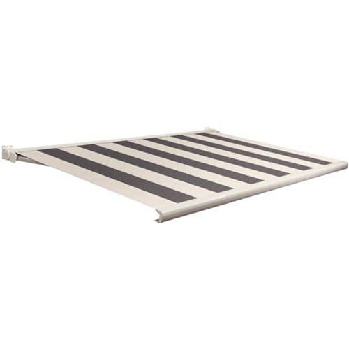 Domasol zonnescherm elektrisch met afstandsbediening Factor 20-C grijs/wit brede strepen 350x300cm