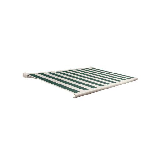 Domasol zonnescherm elektrisch met afstandsbediening Factor 20-C groen/witte strepen 350x300cm