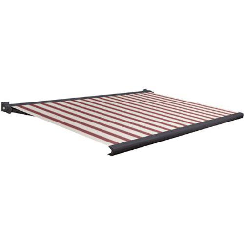 Domasol zonnescherm elektrisch met afstandsbediening Factor 20-A rood/witte smalle strepen350x250cm