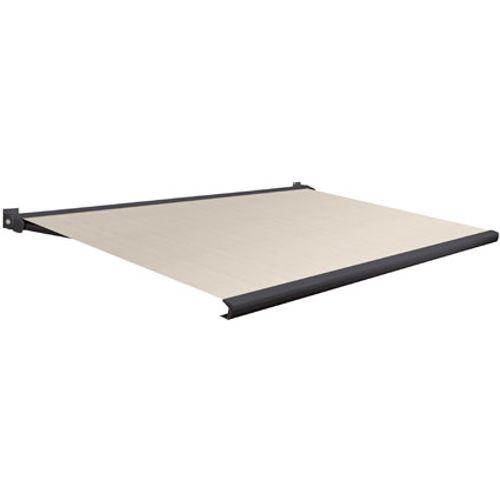 Domasol zonnescherm elektrisch met afstandsbediening Factor 20-A bruin/wit smalle strepen400x250cm