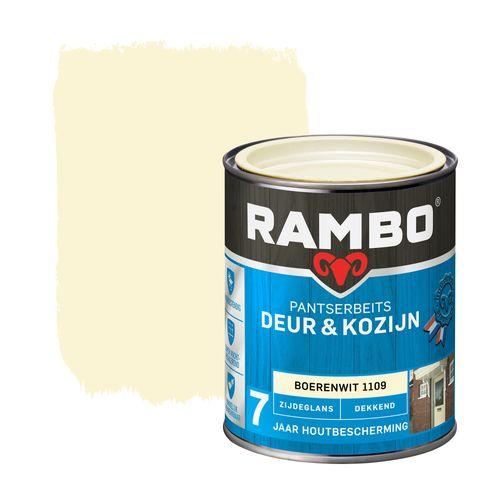 Rambo pantserbeits deur en kozijn dekkend zijdeglans 1109 boerenwit 0,75L