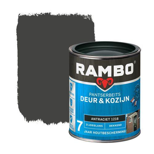 Rambo pantserbeits deur en kozijn dekkend zijdeglans 1216 antraciet 0,75L