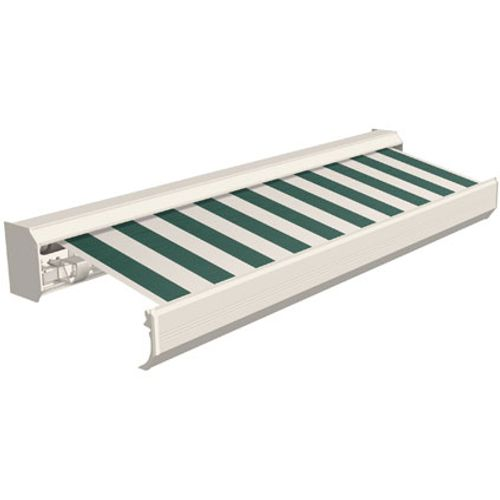 Tente solaire électrique Domasol 'Factor 30-A' vert/blanc à rayures600 x 300 cm
