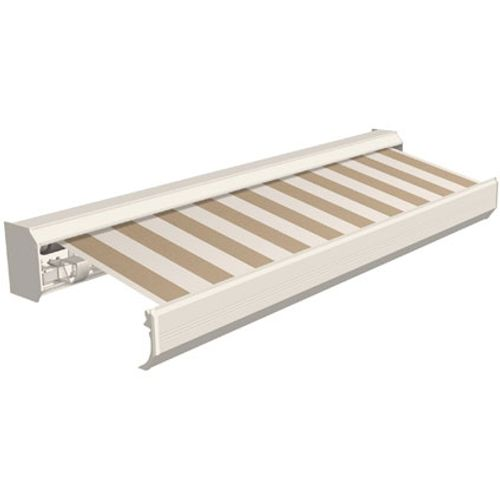 Domasol zonnescherm elektrisch met afstandsbediening Factor 30-A bruin/witte strepen 500x300cm