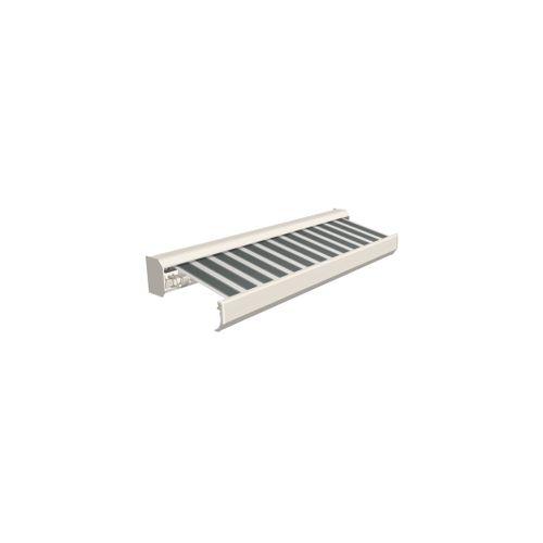 Domasol zonnescherm elektrisch met afstandsbediening Factor 30-A groen/wit smalle strepen 600x300cm