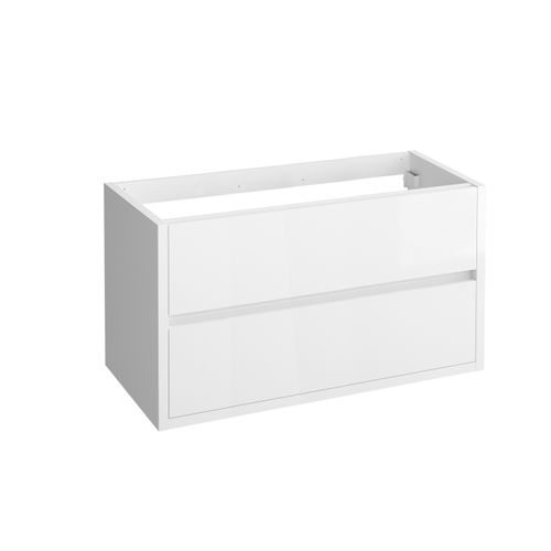 Meuble sous-lavabo Allibert Sense blanc brillant 100cm