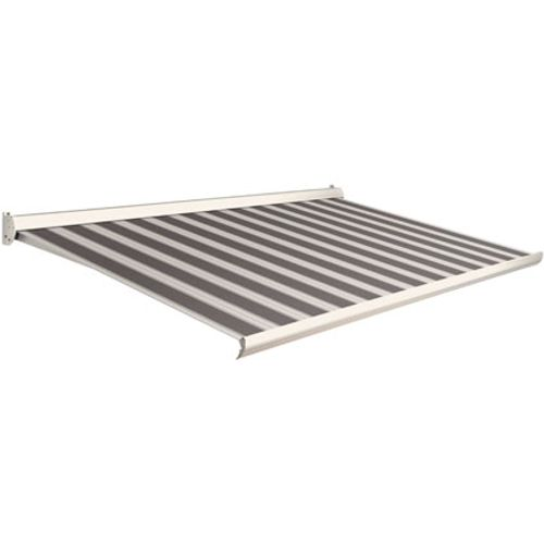 Domasol zonnescherm manueel Factor 10-C zwart/wit smalle strepen 400x250cm