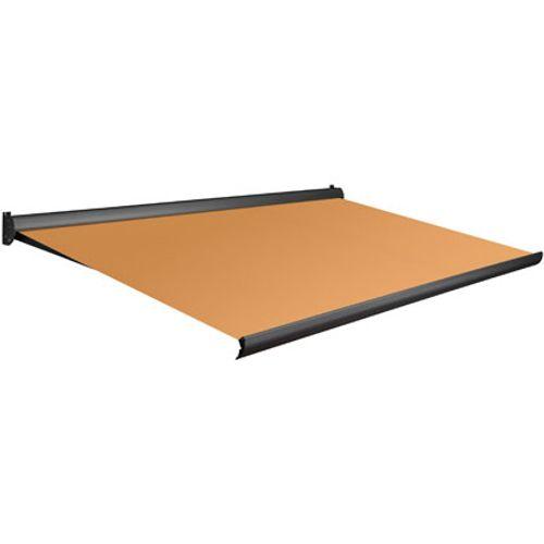 Tente solaire électrique Domasol 'Factor 10-A' orange 500 x 300 cm