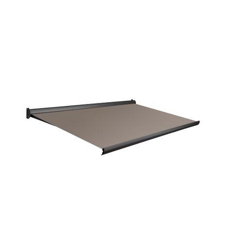 Tente solaire électrique Domasol 'Factor 10-A' brun clair 500 x 300 cm
