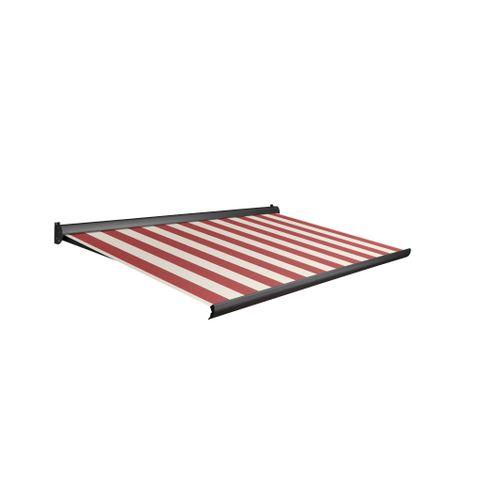 Tente solaire électrique Domasol 'Factor 10-A' rouge/blanc à rayures 500 x 300 cm