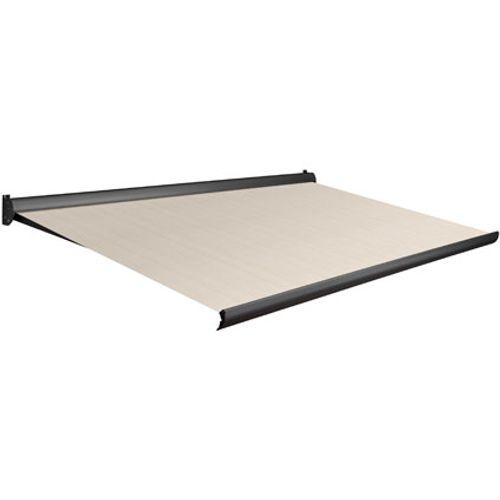 Tente solaire électrique Domasol 'Factor 10-A' brun/blanc à fines rayures 500 x 300 cm