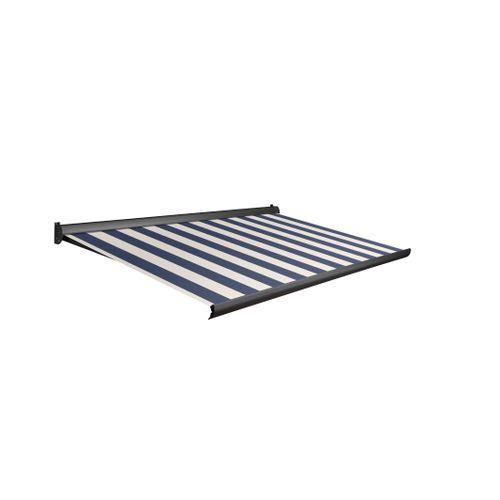 Tente solaire électrique Domasol 'Factor 10-A' bleu/blanc à rayures 500 x 300 cm