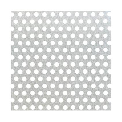 GAH Alberts plaat aluminium geperforeerde grijs 100 x 60 cm x 0,8 mm