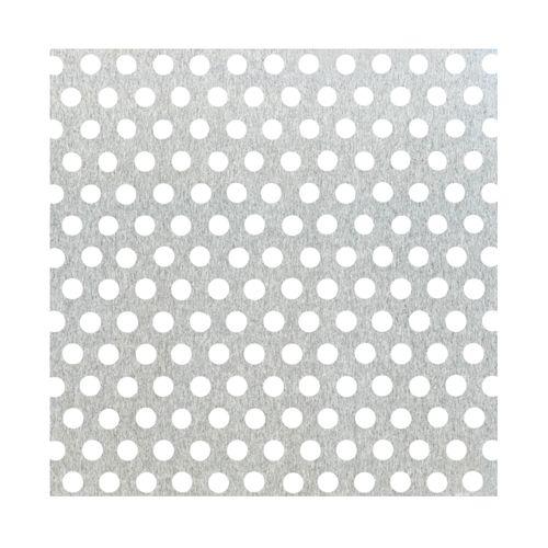 Tôle GAH Alberts aluminium perforé gris 100 x 60 cm x 0,8 mm