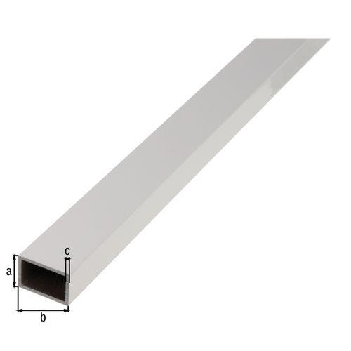 Tube rectangulaire GAH Alberts aluminium gris 2 m x 5 cm