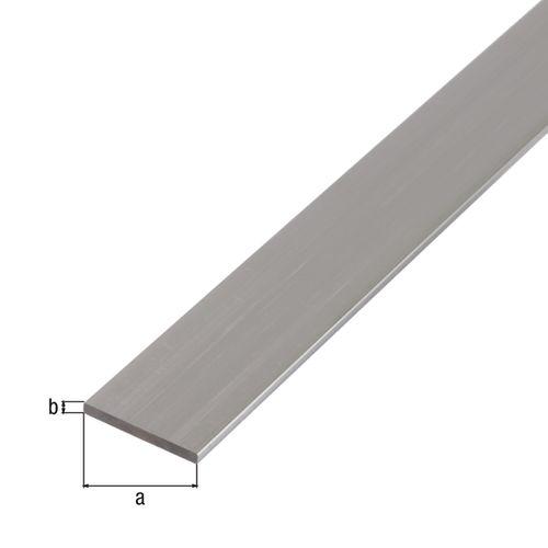 Profilé plat GAH Alberts aluminium 2 m x 5 cm