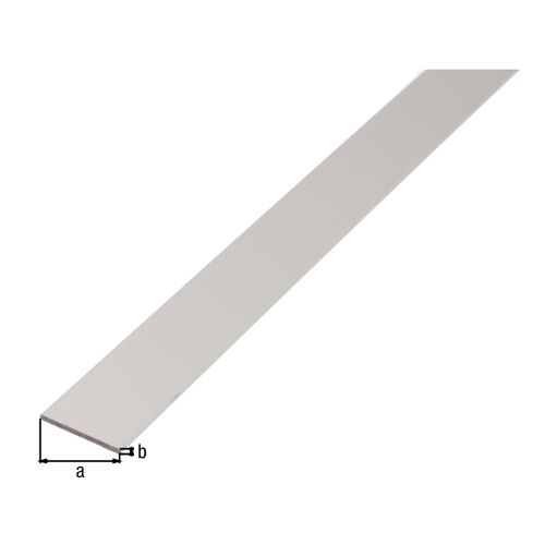 GAH Alberts platte stang aluminium 60x3mm 1m