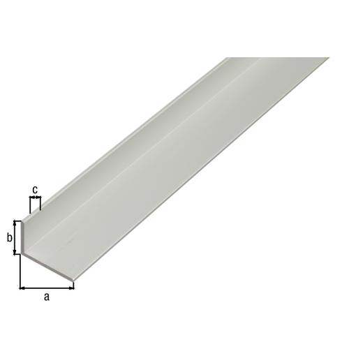 GAH Alberts L-profiel aluminium grijs 2 m x 3 cm