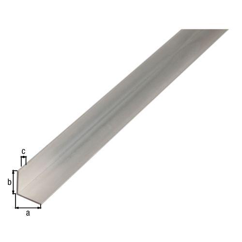 Profilé L GAH Alberts aluminium gris 2 m x 5 cm