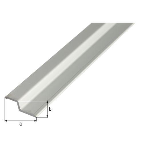 GAH Alberts greepprofiel hoekig afgewerkt aluminium 40x13x2x3,4mm 2m
