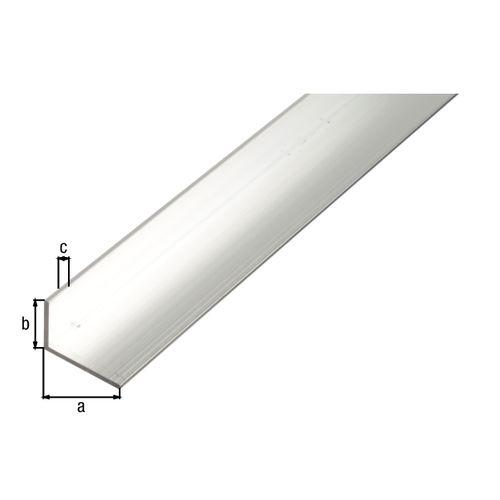 Profilé L GAH Alberts aluminium gris 1 m x 2,5 cm