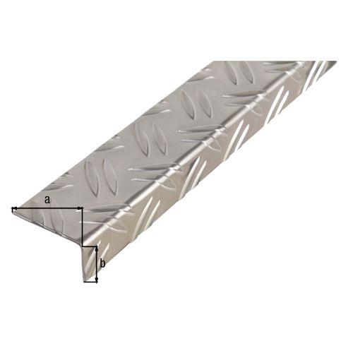 Profil d'angle GAH Alberts aluminium 43,5x23,5x1,5mm 2m