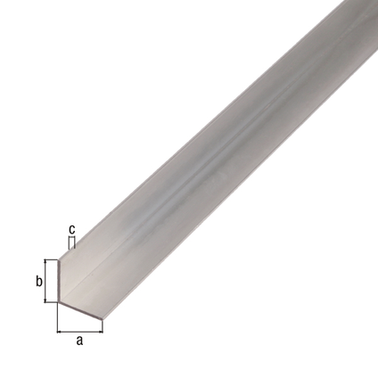 Profilé L GAH Alberts aluminium gris 2,6 m x 2 cm