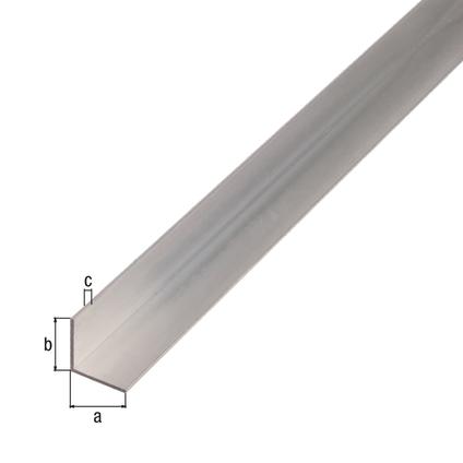 Profilé L GAH Alberts aluminium gris 2,6 m x 1,5 cm