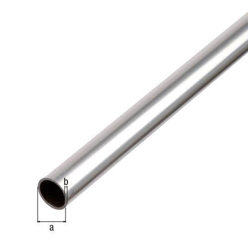 GAH Alberts ronde buis aluminium grijs 1 m x 2 cm