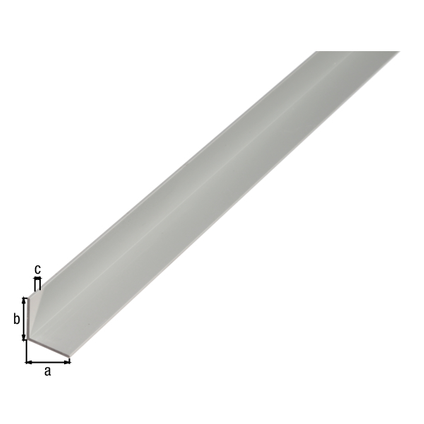 Profilé L GAH Alberts aluminium gris 1 m x 4 cm