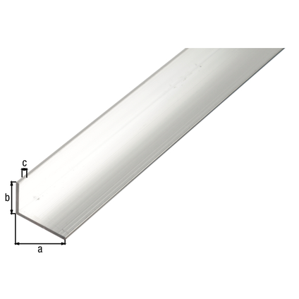 Profilé L GAH Alberts aluminium gris 1 m x 5 cm