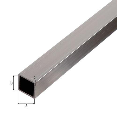 Tube carré GAH Alberts aluminium gris 1 m x 1 cm