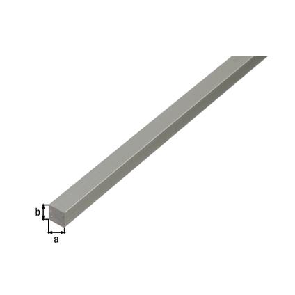 Tube carré GAH Alberts aluminium gris 1 m x 3 cm
