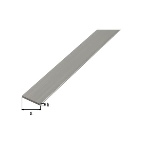 GAH Alberts plat profiel aluminium grijs 2,6 cm x 1,5 cm