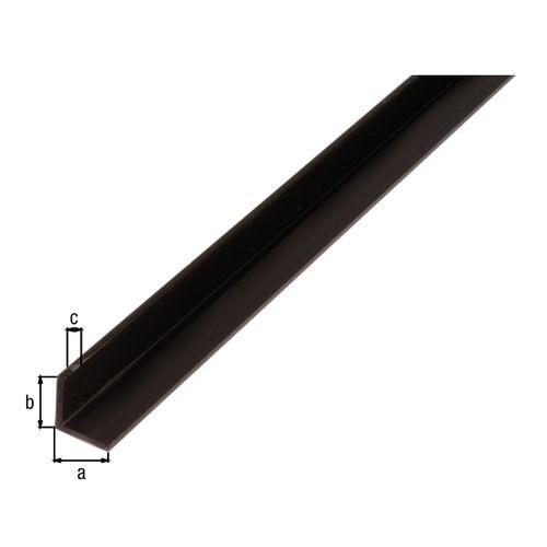 Profilé L GAH Alberts PVC noir 2,6 m x 2 cm
