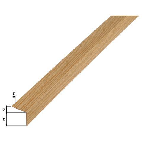 Profilé L GAH Alberts PVC chêne 2,6 m x 2 cm
